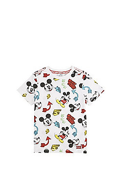 Disney Mickey Mouse Short Sleeve T-Shirt - White