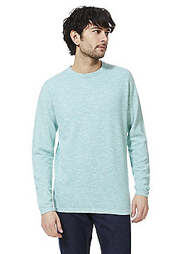 F&F Slub Jersey Crew Neck Jumper - Mint green
