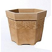 Stewarts Sylvan Hexagonal Planter 45cm Sandstone Effect