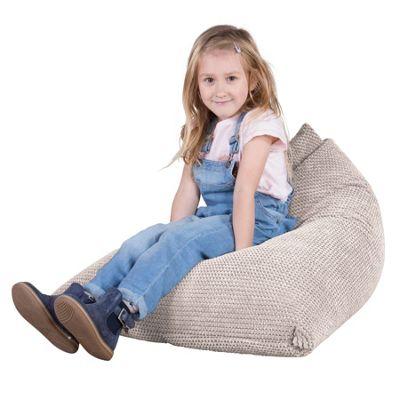 Lounge Pug® Childrens Bean Bag Lounger - Pom Pom Ivory