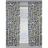 Despicable Me Minions Jailbird Curtains - Grey
