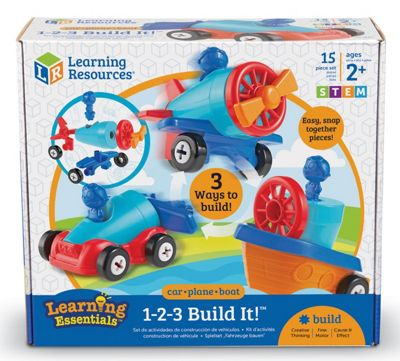 Learning Resources 1-2-3 Build It Car Plane Boat