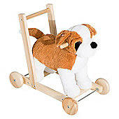 Homcom 3-in-1 Toddler Kids Ride on Toy Walker, Wheels and Handle (Dog)