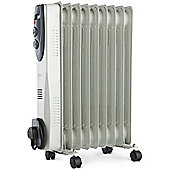 VonHaus 2000W 9 Fin White Oil Filled Radiator