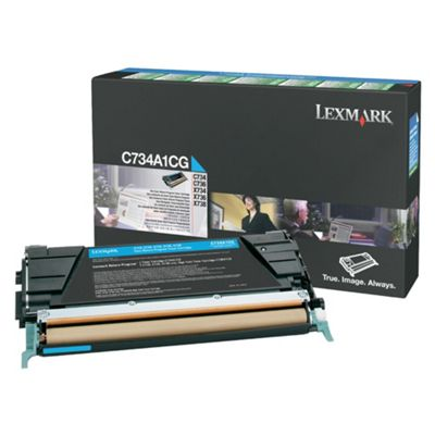 Lexmark C734, C736, X734, X736, X738 Return Programme Toner Cartridge (6K) -Cyan