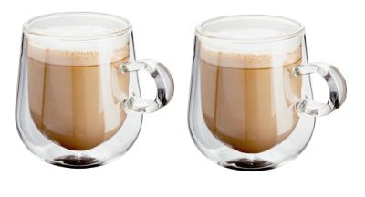 Judge Borosilicate Glass Double Walled Heat Resistant Glass Latte Glasses Set of 2 275ml