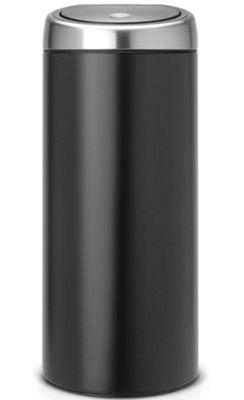 Brabantia Touch Bin 30 L Flat Top.Buy Brabantia Flat Top 30l Matt Black Touch Bin From Our Waste Bins