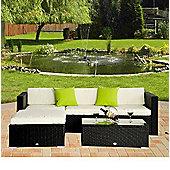 Outsunny Rattan Wicker Outdoor Garden Furniture Black