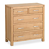 Abbey Light Oak Chest of Drawers - 2 over 3 Chest - Light Oak