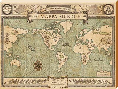 Fantastic Beasts and Where to Find Them Mappa Mundi Large Canvas Print 60x80cm