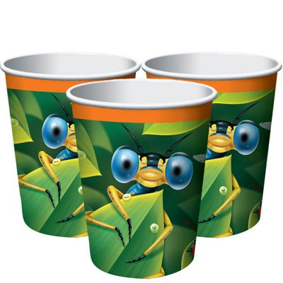 Bug Eyed Cups - 255ml Paper Party Cups - 8 Pack