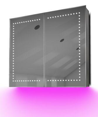 Demist Cabinet With LED Under Lighting, Sensor & Internal Shaver Socket k365p