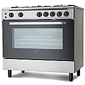 Servis SG900X 90cm Gas Range Cooker in Stainless Steel | Large Single Oven