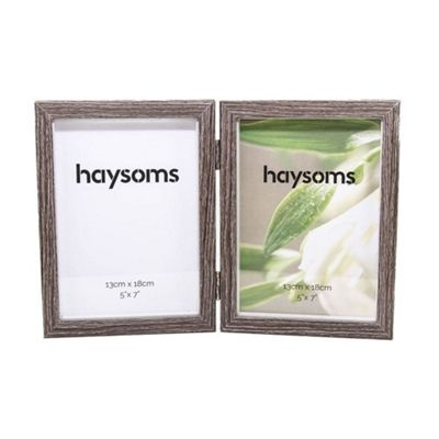 Faded Wood Effect Hinged Photo Frame 5