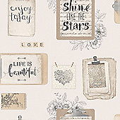 Fresco Lovely Day Typography Neutral Wallpaper