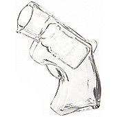 Thumbs Up Revolver Shaped Shot Glass, 50ml, (Transparent)