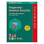 Kaspersky KIS2018-5D1YUK Internet Security 2018 1 Year Subscription for 5 Devices
