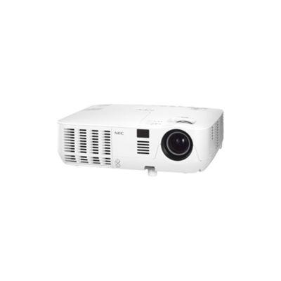 NEC V260X 3D Ready DLP Projector, 1080p, 4:3, F/2.4-2.6, PAL, SECAM, HDTV, 1024 x 768, XGA, 2000:1, 2600 lm, HDMI, VGA, Ethernet, 233 W, 3 Year