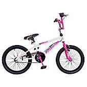 "Rooster Nemesis 20"" Freestyle Gyro BMX White/Pink"