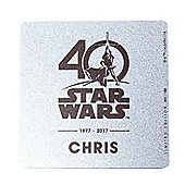 Star Wars Personalised Limited Edition Collectors Coaster - 40th Anniversary