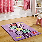 Rugs with Flair Kiddy Play Hopscotch Multi Kids Rug - 70cm x 100cm