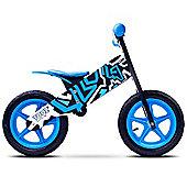 Caretero Zap Wooden Balance Bike (Black/Blue)