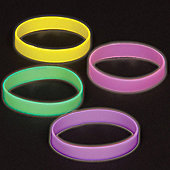 Glow in the Dark Wrist Bands (Pack of 10)