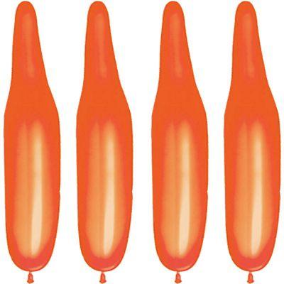100 Pack Plain Orange Modelling Balloons - 321Q Latex