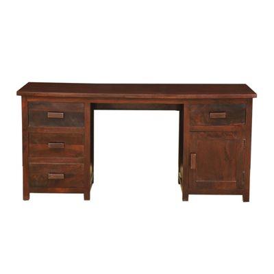 Homescapes Mangat Large Office Desk Dark Shade