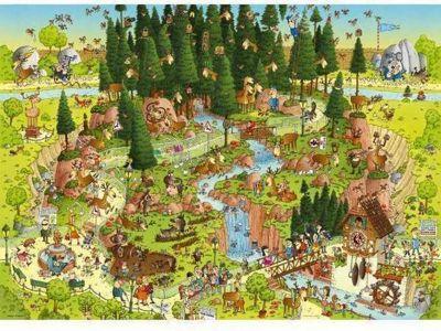 Funky Zoo - Black Forest Habitat - 1000pc Puzzle