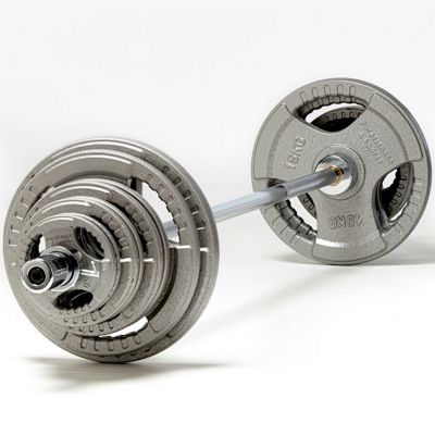 PureFitness & Sports 105kg Olympic Weight Set with 6ft Olympic Bar