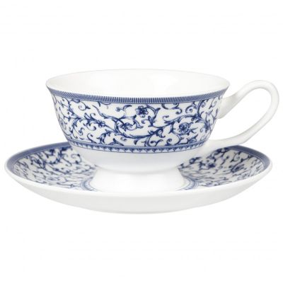 Churchill China Blue Story Grace Arabesque Teacup and Saucer 0.24L