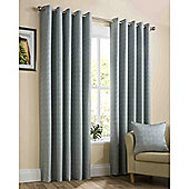 Memphis Eyelet Lined Curtains - Duck egg