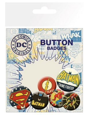 DC Comics Retro Badge Pack 10x15cm