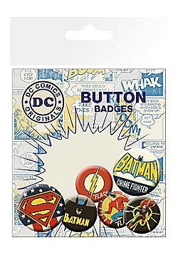 DC Comics Retro Badge Pack 10x15cm - Multi