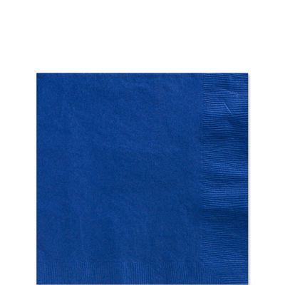 Royal Blue Beverage Napkins - 3ply Paper - 20 Pack