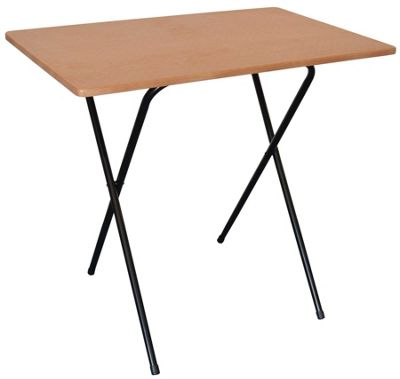 Harbour Housewares Folding Computer, Laptop Desk Black Frame / Wood Effect Top