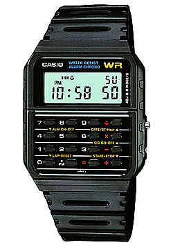 Casio Collection Mens Black Calculator Watch CA-53W-1ER