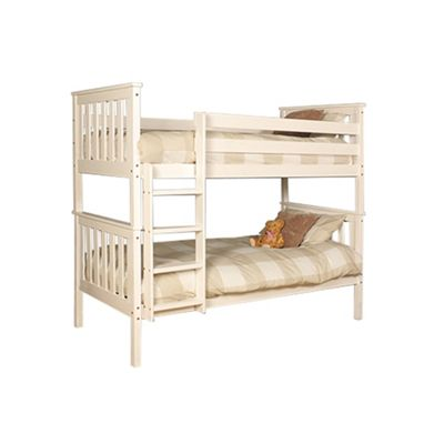Comfy Living 3ft Single Children's Shaker Bunk Bed in White
