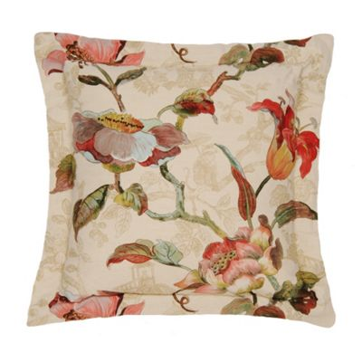 Edinburgh Weavers Lotus Cushion in Cream