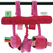 Label Label Car Seat Toy (Pink/Fuchsia)