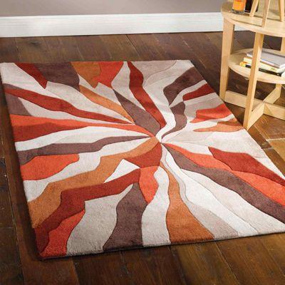 Infinite Splinter Rugs in Orange80x150cm