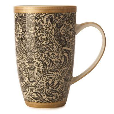 William Morris Conical Mug 420ml Black Seaweed WM0025