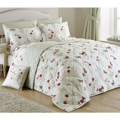 Dreams n Drapes Country Journal Green Bedspread - 229x195cm