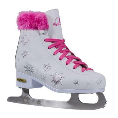 SFR Snowflake Vinyl Figure Ice Skates - Junior UK 11