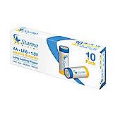 10 x Starmo AA LR6 1.5V Alkaline Long Lasting Batteries MN1500