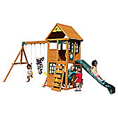 Selwood Rock Climbing Frame - Swings, Slide and Lower Playhouse