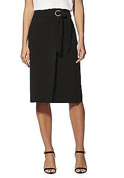 F&F Tie Belt Pencil Skirt - Black