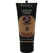 Rimmel Lasting Finish 25 Hour Tube Foundation 30ml - 091 Light Ivory