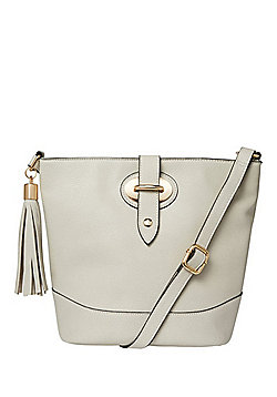 F&F Tassel Trim Bucket Bag